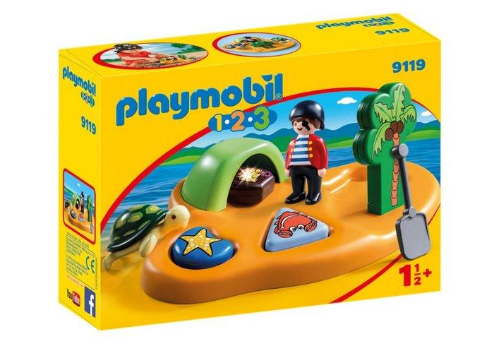 Playmobil 1.2.3 isla pirata 9119