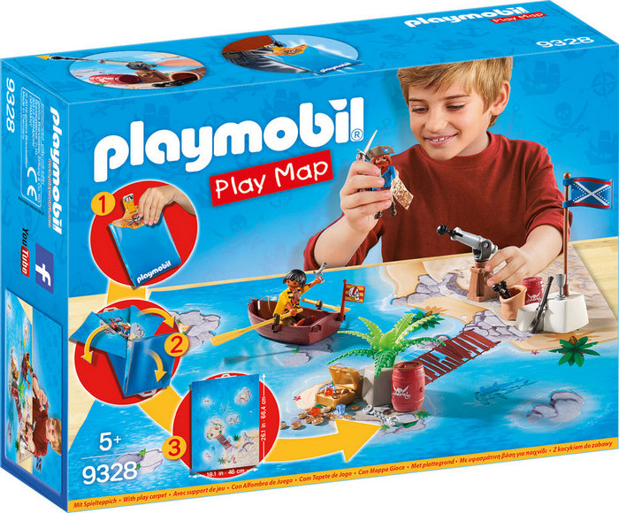 Playmobil play map piratas 9328