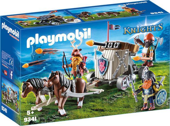 Playmobil carruaje de caballos con ballesta enanos 9341