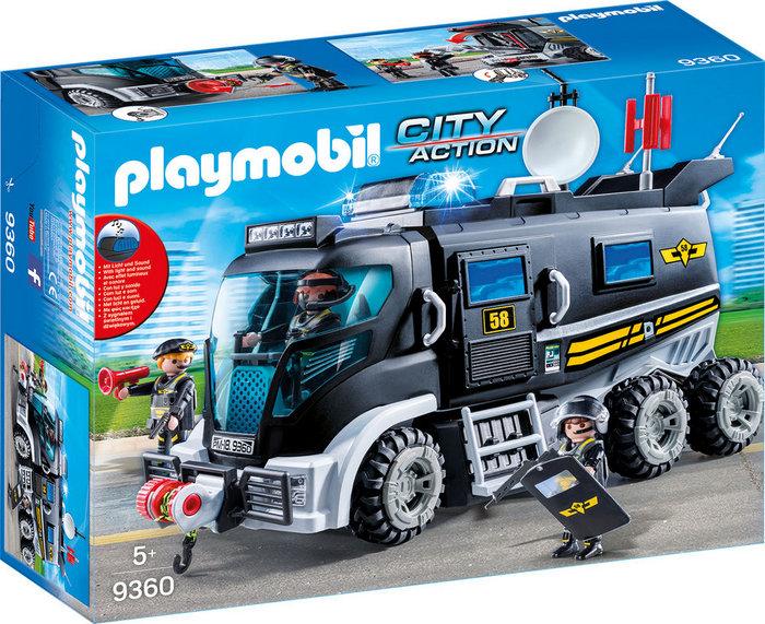Playmobil vehiculo con luz led y modulo de sonido 9360