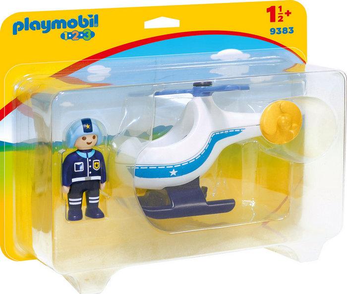 Playmobil 1.2.3 helicoptero de policia 9383