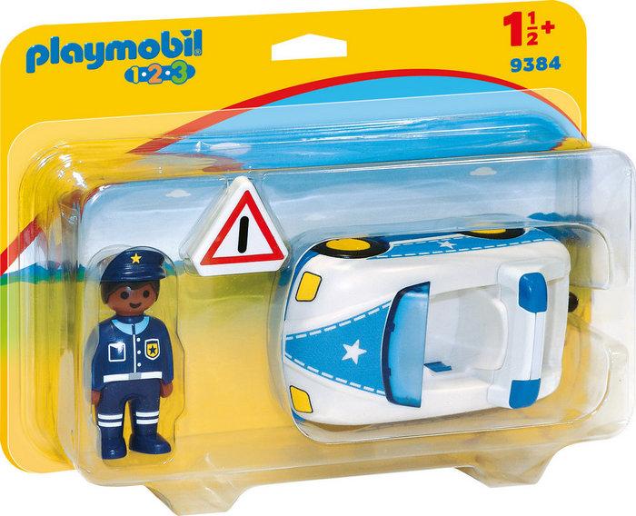 Playmobil 1.2.3 coche de policia 9384
