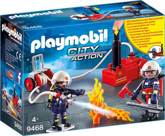 Playmobil bomberos con bomba de agua 9468