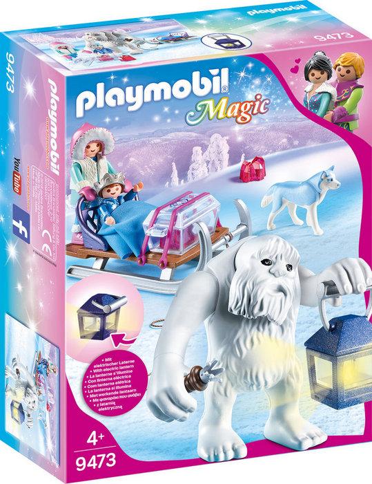 Playmobil trol de nieve con trineo 9473