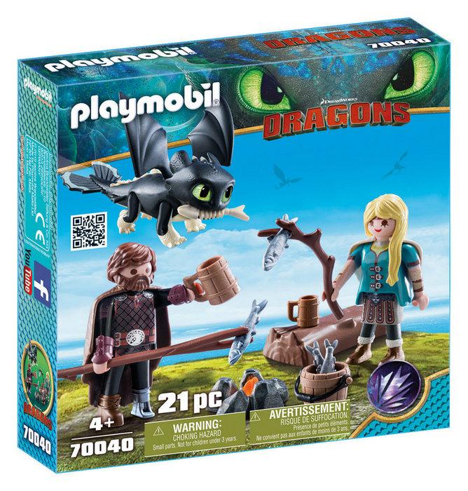 Playmobil set de juego hipo y astrid 70040