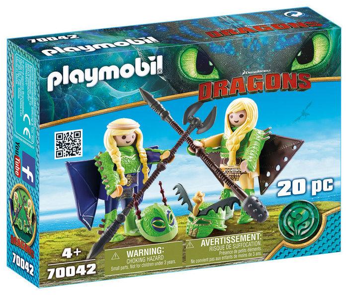 Playmobil chusco y brusca con traje volador 70042