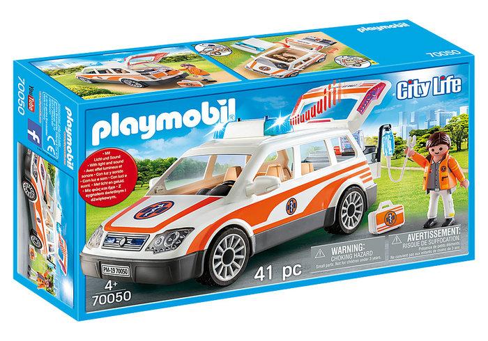 Playmobil coche de emergencias con sirena