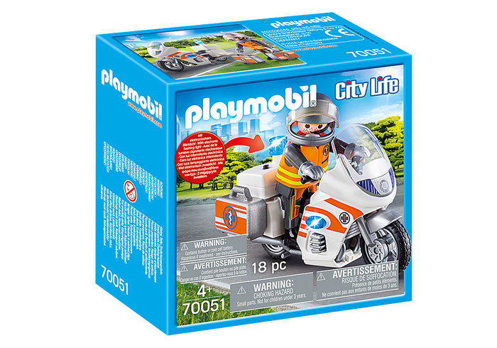 Playmobil moto de emergencias