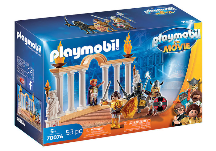 Playmobil the movie emperador maximus en el coliseo 70076