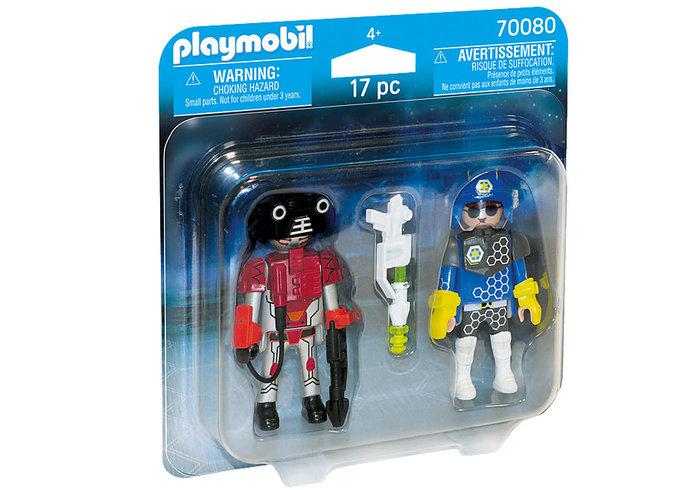 Playmobil duo pack policia del espacio y ladron