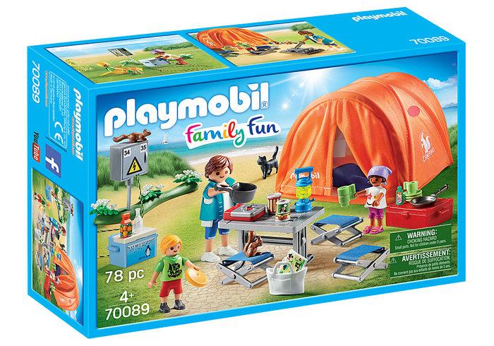 Playmobil tienda de campaÑa