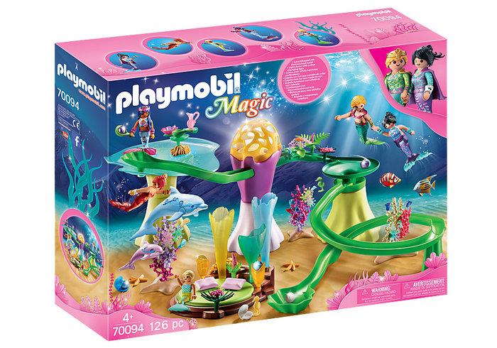 Playmobil cala de sirenas con cupula iluminada