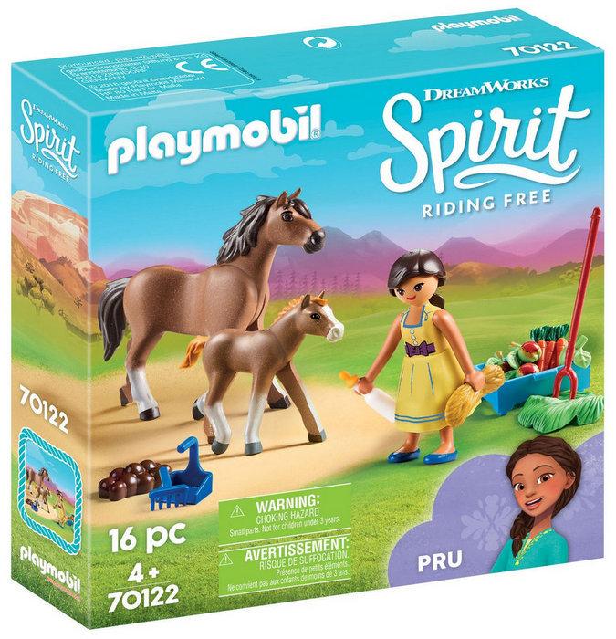 Playmobil pru con caballo y potro 70122