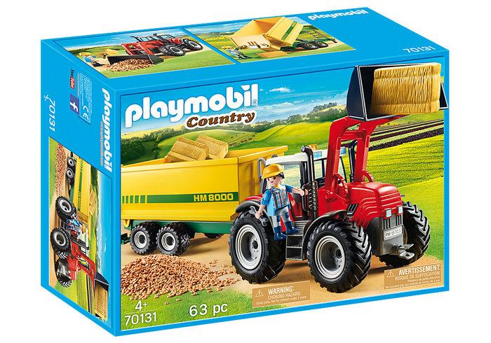 Playmobil tractor con remolque