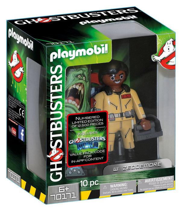 Playmobil ghostbusters figura coleccionable w. zeddemore