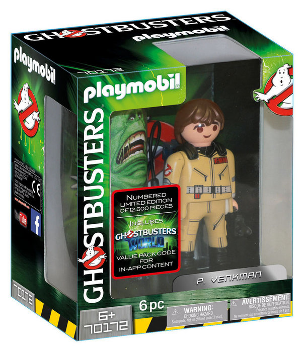 Playmobil ghostbusters figura coleccionable p. venkman