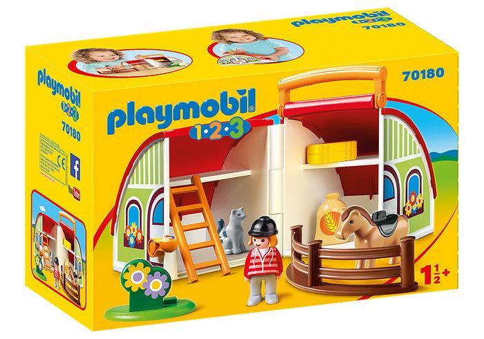 Playmobil 1.2.3 mi primera granja maletin