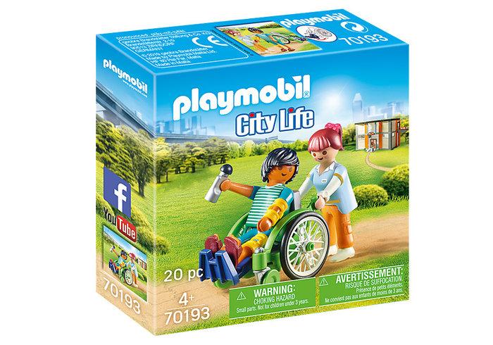 Playmobil paciente en silla de ruedas