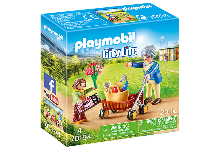 Playmobil abuela con niÑa