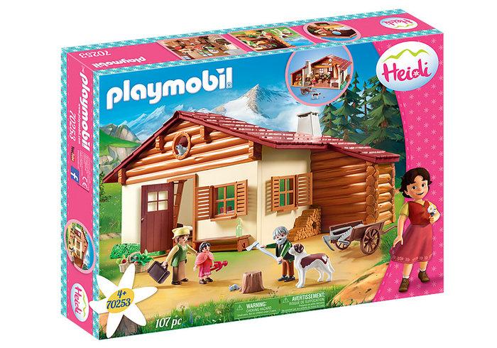 Playmobil heidi en la cabaÑa de los alpes