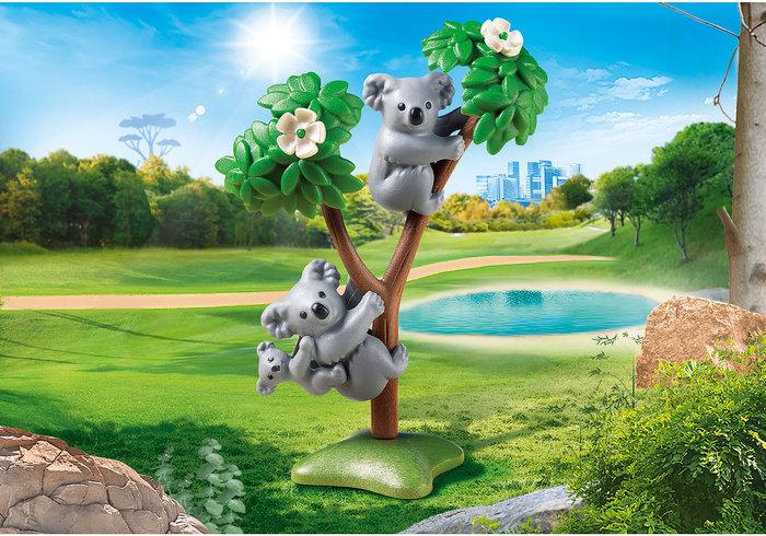 Playmobil koalas con bebe