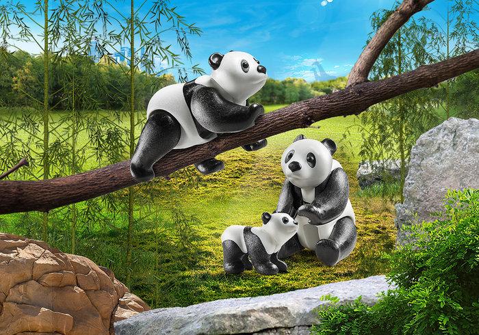 Playmobil pandas con bebe