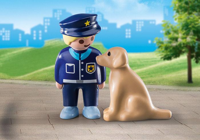Playmobil 1 2 3 policia con perro