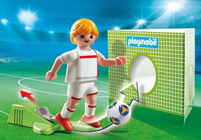Playmobil jugador de futbol inglaterra