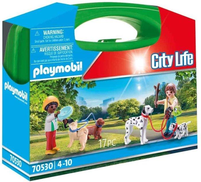 Playmobil maletin paseo de perros