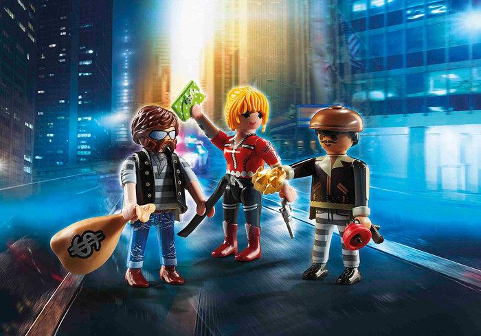 Playmobil set figuras ladrones