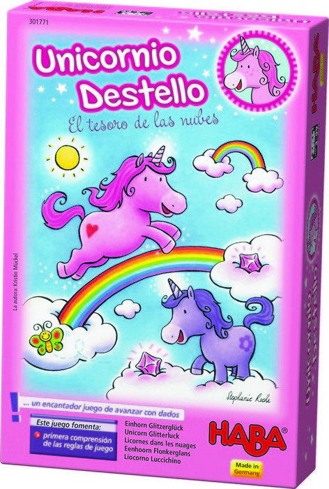 Juego haba unicornio destello el tesoro de las nubes