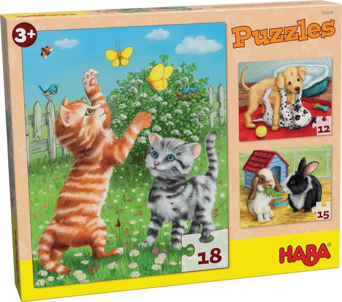 Puzzles  haba animales domesticos evolutivo