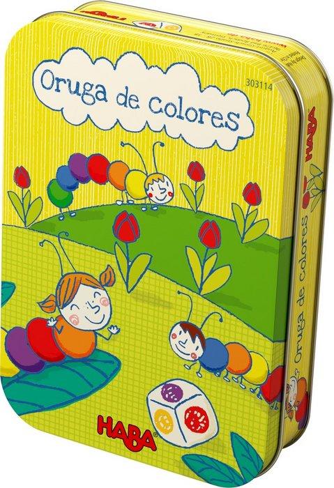 Juego haba oruga de colores
