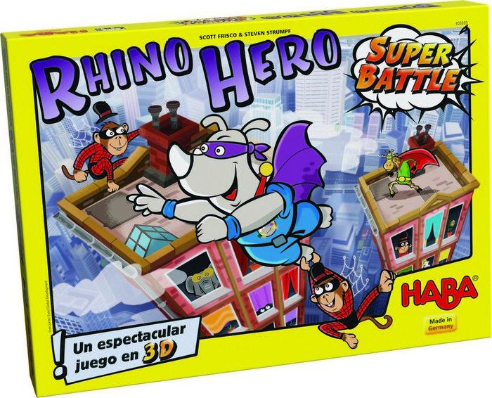 Juego haba rhino hero-super battle