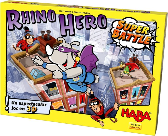 Joc de taula rhino hero-super battle catalan