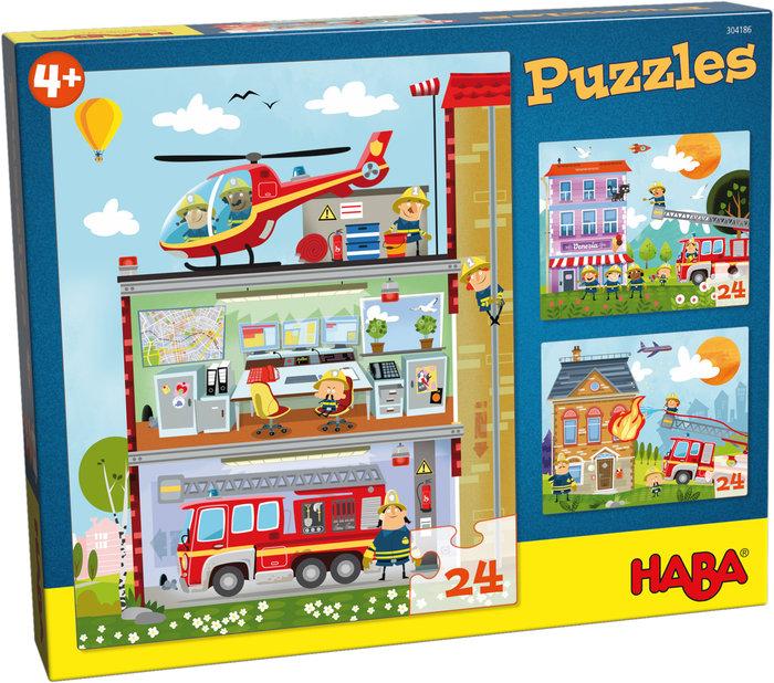 Puzzles haba pequeÑos bomberos 100