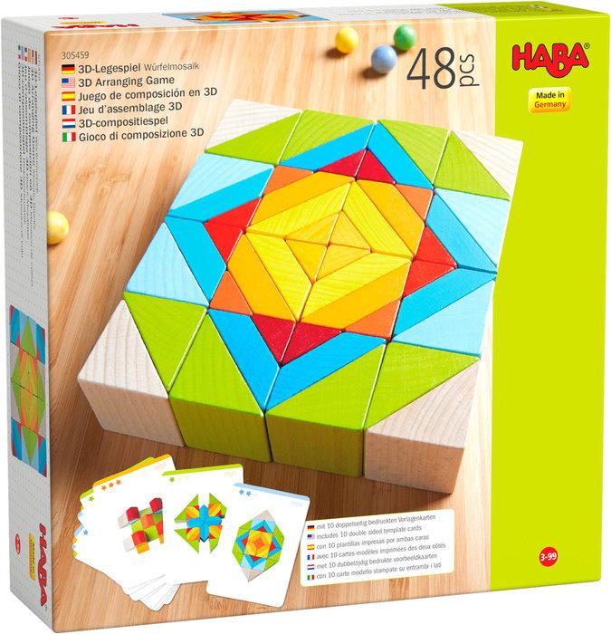 Juego haba composicion 3d mosaico de cubos
