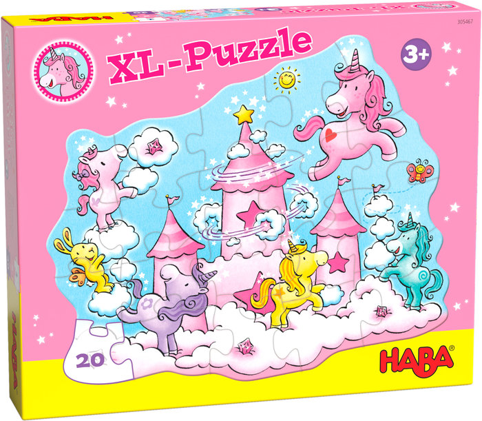 Puzzle haba unicornio destello ? puzzle entre nubes 20p