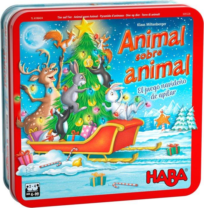 Juego animal sobre animal un juego navideño de apilar