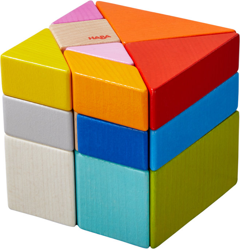 Juego haba composicion 3d cubo tangram