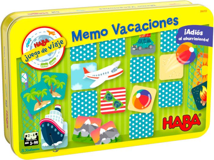 Juego haba memo de vacaciones