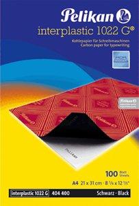 Papel carbon a4 negro interplastic 1022 g 100h