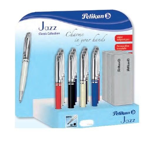 Boligrafo pelikan jazz classic con estuche colores surtidos