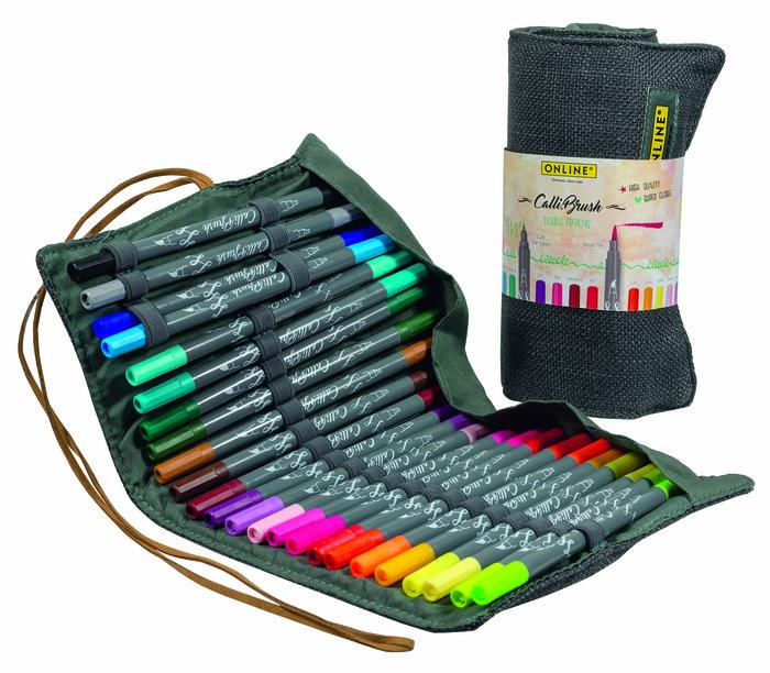 Rotuladores callibrush 24 colores surtido 81463 estuche rulo