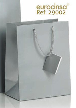 Bolsa de papel 190 gr 18x10x22,7 cm plata