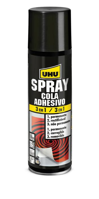 Pegamento spray uhu 200ml 3 en 1