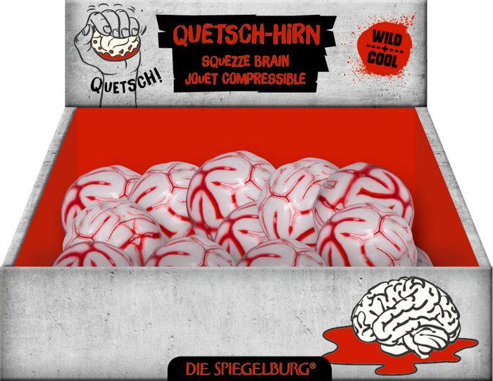 Expositor 9 cerebros estrujables y sangrientos