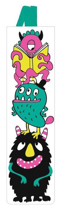 Marcapaginas infantil goma elastica monstruo