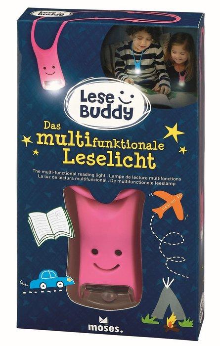 Linterna de lectura infantil lese buddy rosa