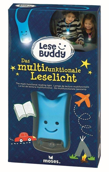 Linterna de lectura infantil lese buddy azul